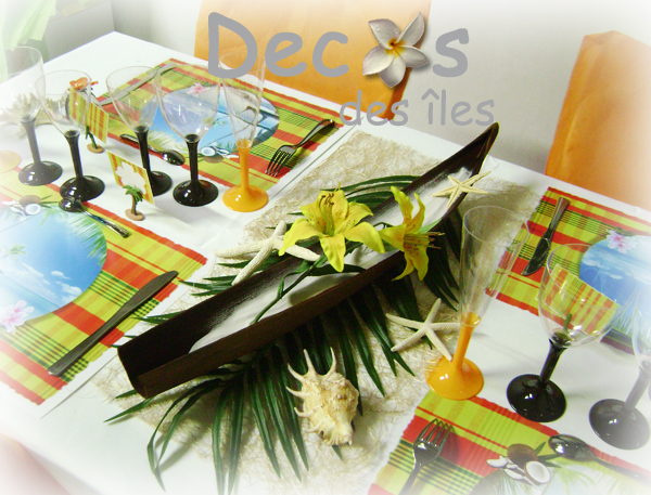 Decoration de table pour mariage antillais id es et d for Deco s