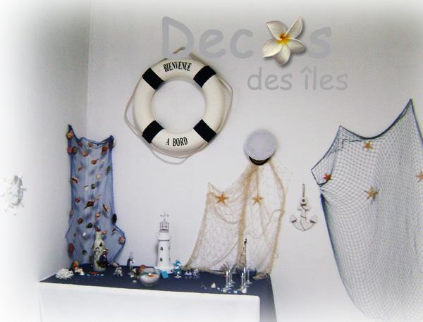 décoration buffet mer pour mariage bouée et filet de pêche décoratif