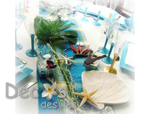 decoration table theme madras turquoise. Black Bedroom Furniture Sets. Home Design Ideas