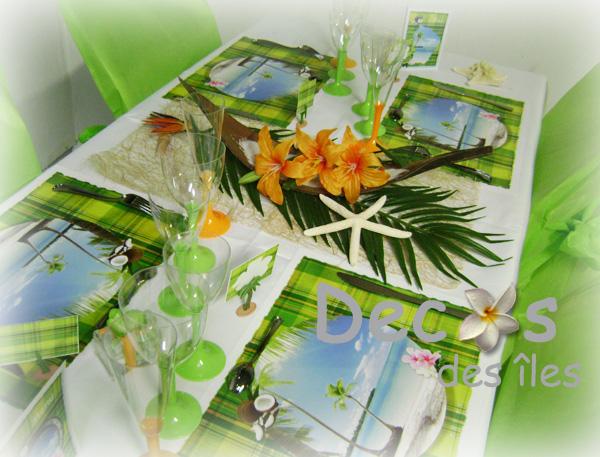decoration de table pour mariage antillais id es et d. Black Bedroom Furniture Sets. Home Design Ideas