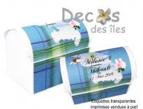 Plus d'infos sur Kit 10 malles madras turquoise Martinique