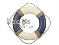 Plus d'infos sur Bou�e bleu blanc 35 cm