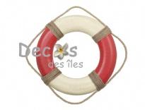 Plus d'infos sur Bou�e rouge blanc 35 cm