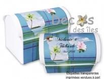 Plus d'infos sur Kit 10 malles madras bleu Guadeloupe