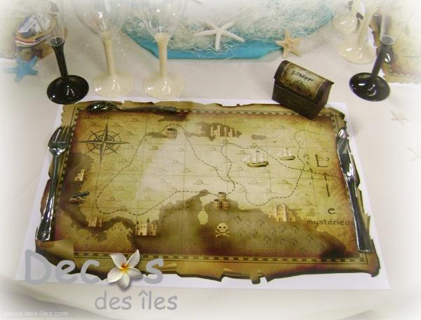 Set de table pirates dc 1763 - Decoration bapteme pirate ...