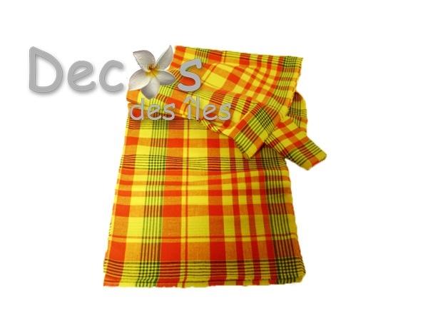 Ch de table madras jaune dc 3158 - Tissu pour chemin de table ...