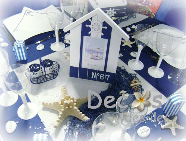 Articles de f tes magasin lisses 91 boutique anniversaire for Deco bleu marine et blanc
