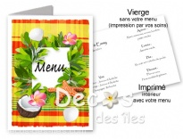 Plus d'infos sur Menu tropical madras jaune
