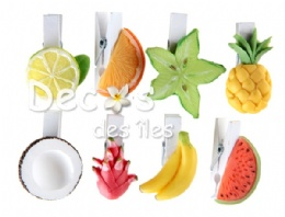 8 porte-noms fruits