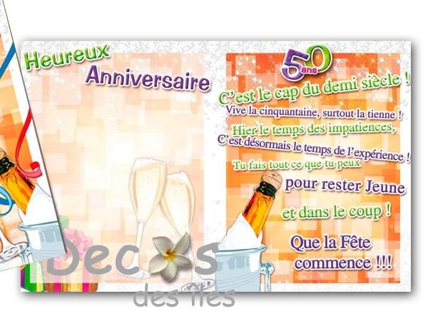 Cadeau 20 ans de mariage images deco de table for Decoration 50 ans homme