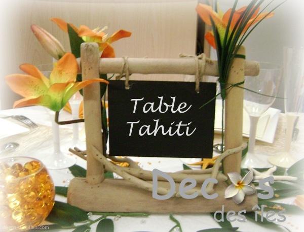 Marque-table bois flotté DC-1634