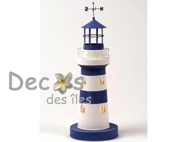 Lampe lectrique phare bleu dc 0043 for Lampe bord de mer
