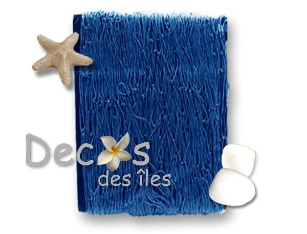 Filet de p che bleu 100x200 dc 0722b - Chemin de table filet de peche ...
