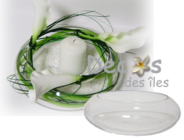 Centre table verre 19 cm dc 0631r 19 - Centre de table coupe en verre ...